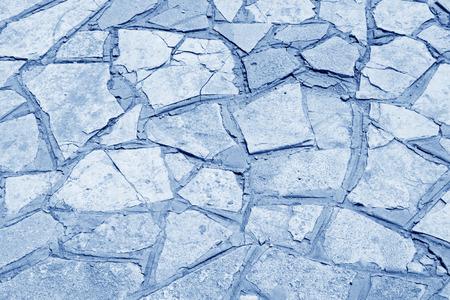 restore ancient ways: Crushed stone paving pavement, closeup of photo