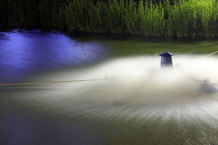 aerator: aerator in the pond, closeup of photo