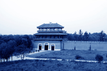 film shooting: chinese ancient architecture landscape Film shooting base in Zhuozhou, Zhuozhou City, Hebei Province, China.