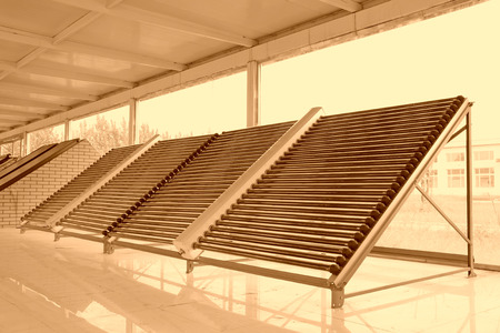 solar water heater parts in a hall photo