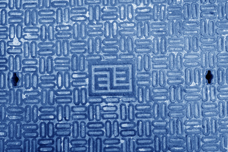 municipal utilities: city underground pipeline manhole covers in a university in beijing, north china