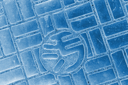 city manhole covers in beijing, north china Stock Photo