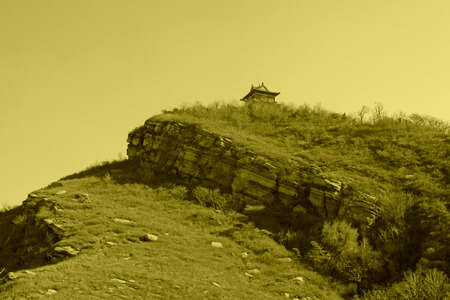 the humanities landscape: hilly landscape in the autumn, north china