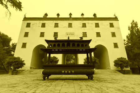 Tibetan Buddhism in landscape architecture of an ancient temple, Chengde, Mountain Resort, north china photo