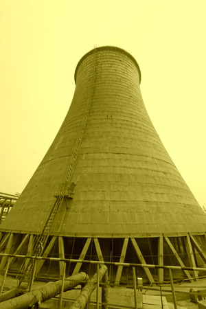 cooling tower: industrial building cooling tower in a factory