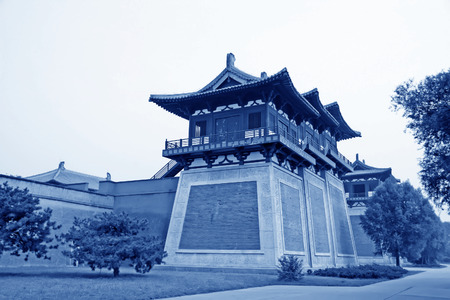 film shooting: chinese ancient architecture landscape in Film shooting base, Zhuozhou City, Hebei Province, China.