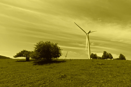 impeller: wind power generator on the grassland, Chengde, Hebei Province, north china