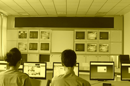 monitoring system: road traffic monitoring system in the room