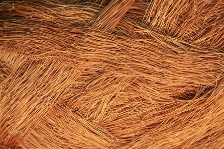 redes de pesca: Redes de pesca de nylon Brown, primer plano de la foto Foto de archivo