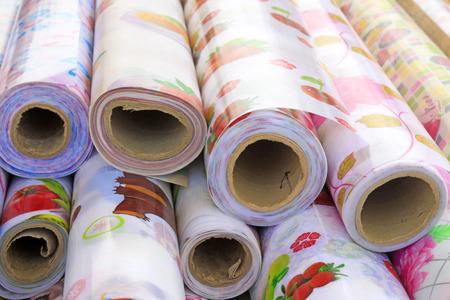 crimp: adornment of roll material, closeup of photo
