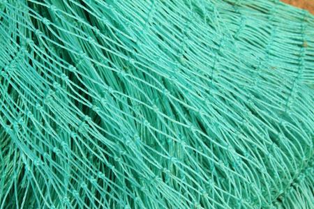strong toughness: Nylon fishing nets in a market, closeup of photo