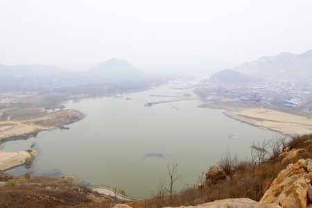 river county: Luanhe river natural scenery, luan county, hebei province, China