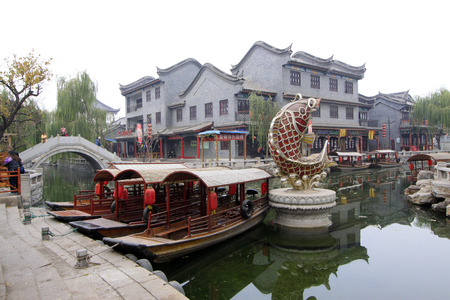 city and county building: LUAN COUNTY - NOVEMBER 23: Archaize building landscape in Luanzhou city, on november 23, 2014, Luan County, Hebei Province, China