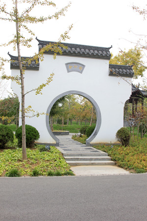 generalized: BEIJING - OCTOBER 23: gloriously enrolled architectural landscape in park, on october 23, 2014, Beijing, China.