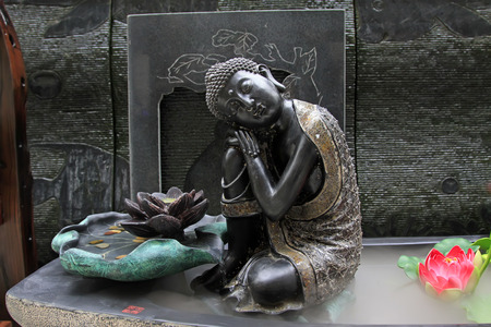 bodhisattva: bodhisattva sculpture, closeup of photo