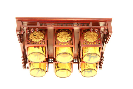 droplight: Chinese traditional style droplight, closeup of photo Editorial