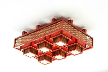 droplight: Chinese traditional style droplight, closeup of photo Stock Photo