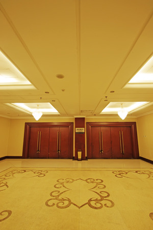 droplight: hotel lobby, closeup of photo