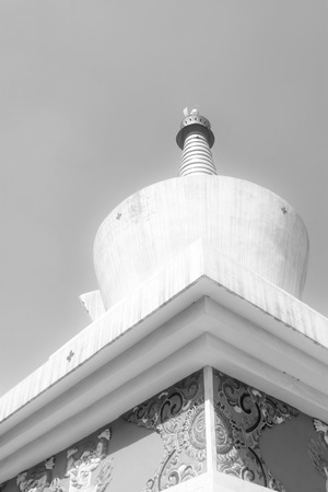appearance: stupa in a temple in a park, north china