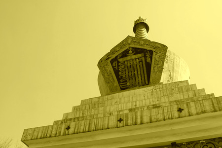 north china: stupa in a temple in a park, north china