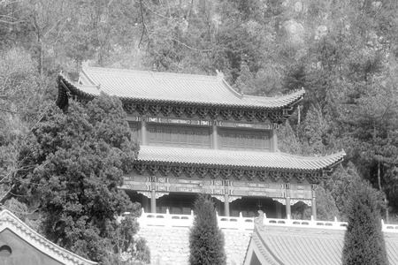 architectural style: Chinese traditional architectural style temple, north china