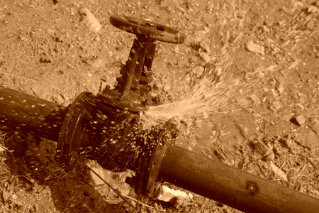 injection valve: water leakage fault of metal pipe valve in a construction site