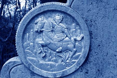 generals: Zhangjiajie City, April 13: Chinese ancient Knight sculpture on April 13, 2012, Zhangjiajie City, Hunan, China