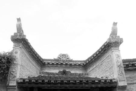 Phoenix County, April 15: Miao ethnic minority roof building landscape on April 15, 2012, Phoenix County, Hunan Province, China