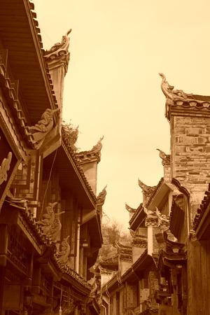 april 15: Phoenix County, April 15: Ancient architecture landscape on April 15, 2012, Phoenix County, Hunan Province, China