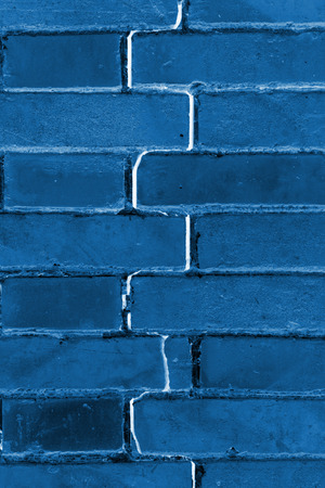 red brick: closeup of pictures, crack of red brick wall, north china Stock Photo