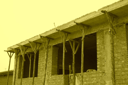 unfinished: Unfinished houses in rural area, north china