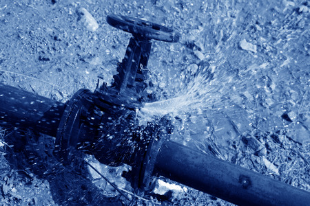 fault: water leakage fault of metal pipe valve in a construction site