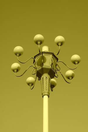 street lamps: street lamps in the sky background