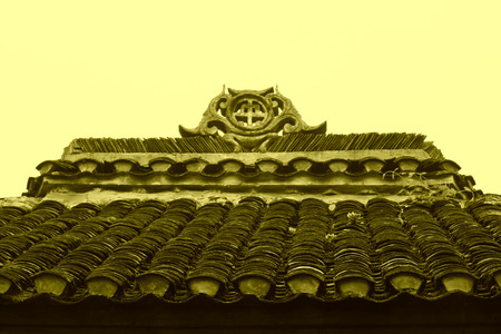 miao: Phoenix County, April 15: Miao ethnic minority roof building landscape on April 15, 2012, Phoenix County, Hunan Province, China