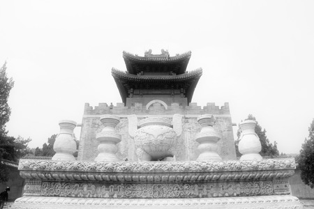 stone carvings: Zunhua, May 13: Stone carvings works and building landspace, Eastern Royal Tombs of the Qing Dynasty on May 13, 2012, Zunhua City, Hebei Province, china.
