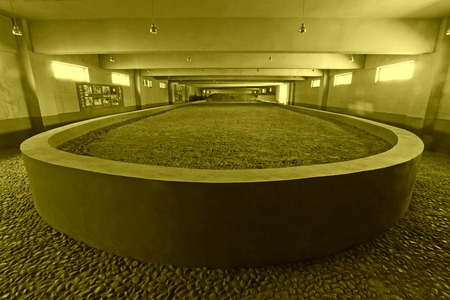 relics: cement building in the indoor, historical relics, China