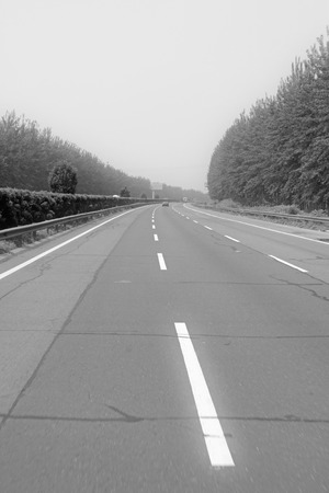 isolation: Beijing-Shenyang Expressway landscape, north china