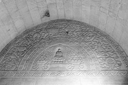 stone carvings: Zunhua, May 13: Stone carvings Buddhist Scripture on the walls, Eastern Royal Tombs of the Qing Dynasty on May 13, 2012, Zunhua City, Hebei Province, china.