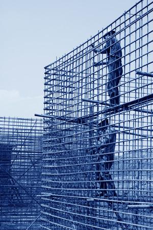 materiales de construccion: Obra de construcci�n de ingenier�a de retenci�n de agua de mar, el norte de China