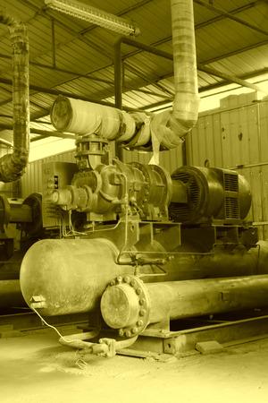 mining machinery: MaCheng July 12: Mining machinery and equipment in MaCheng iron mine on July 12, 2012, Luannan County, Hebei Province, China