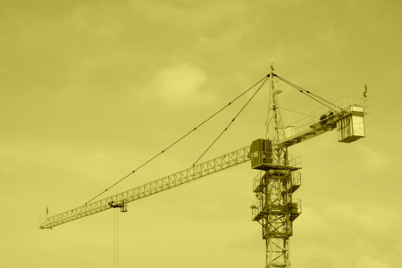 crane tower: crane tower at a construction site, north china