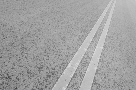lane lines: Double line on the asphalt road, north china