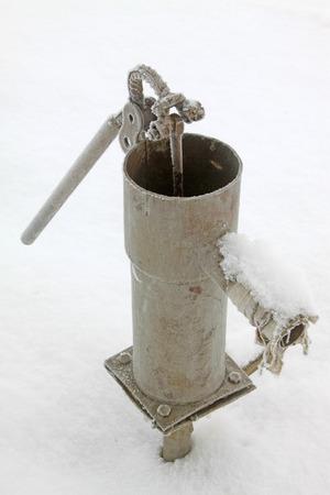 apalancamiento: Bueno bombear en la escarcha y la nieve Foto de archivo