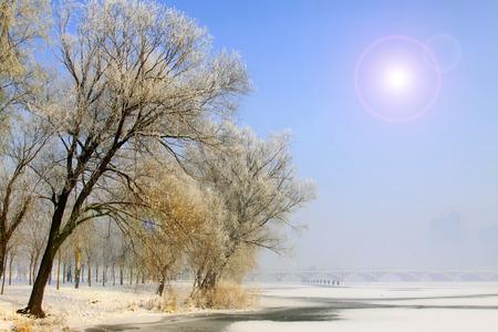 paisaje natural: Rime paisaje natural en el norte de China
