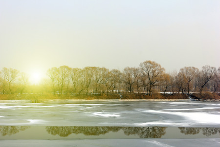 hebei: Hebei luanhe river natural scenery in winter, closeup of photo