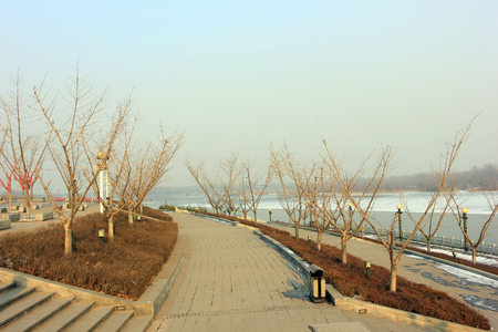 hebei: Luanhe River Banded Park scenery in winter, Hebei Province, China