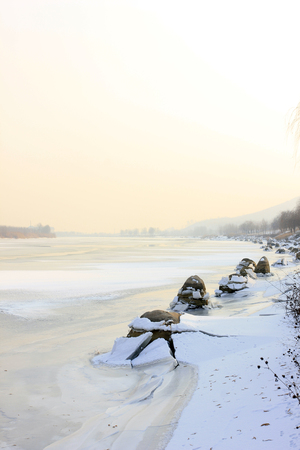 hebei: Hebei luanhe river natural scenery in winter