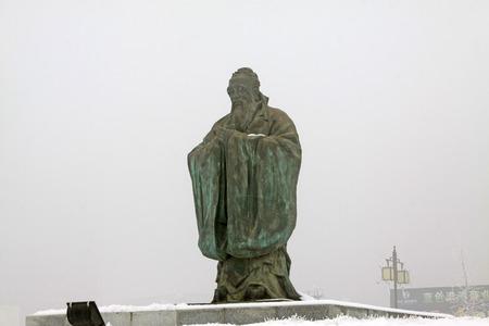 confucian: ancient China Confucian scholars sculpture
