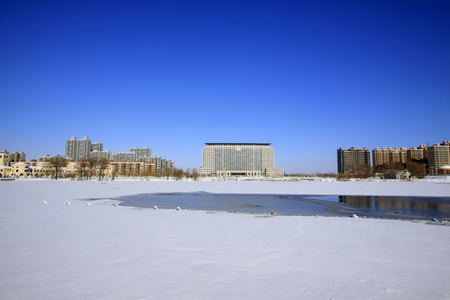 wider: Buildings in the snow