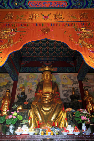 bodhisattva: LUAN COUNTY - January bodhisattva sculpture in Dajue Temple, January 10, 2015, Luan County, Hebei Province, China